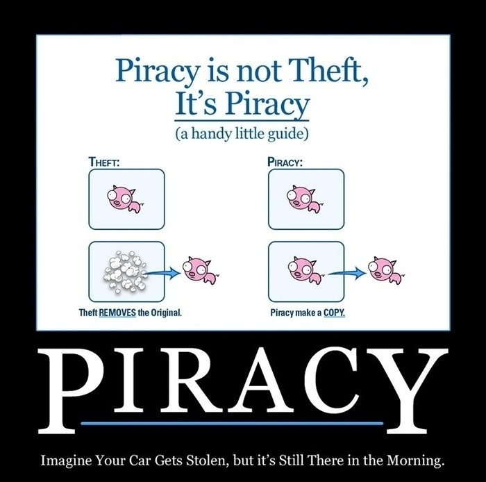 piracy is not theft.